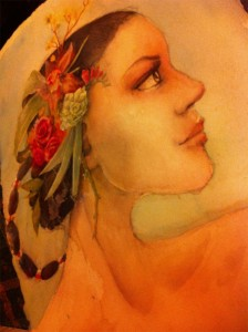 Earthly Pleasures - In Progress - Watercolor by Mandy Maxwell