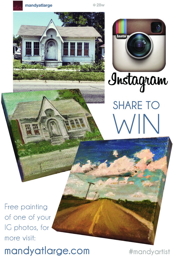 Win an Instagram-style Painting by Mandy Maxwell!